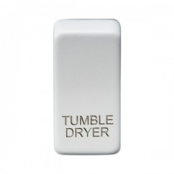 Knightsbridge Grid Matt White Module Rocker Switch Cover Marked 'TUMBLE DRYER'