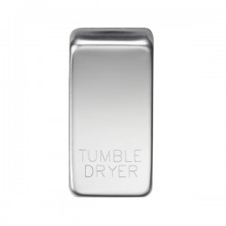 Knightsbridge Grid Polished Chrome Module Rocker Switch Cover Marked 'TUMBLE DRYER'