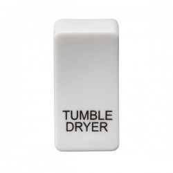 Knightsbridge Grid White Metal Clad Module Rocker Switch Cover Marked 'TUMBLE DRYER'