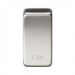 Knightsbridge Grid Brushed Chrome Module Rocker Switch Cover Marked 'FAN'