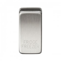 Knightsbridge Grid Brushed Chrome Module Rocker Switch Cover Marked 'FRIDGE/FREEZER'