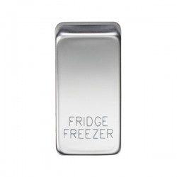 Knightsbridge Grid Polished Chrome Module Rocker Switch Cover Marked 'FRIDGE/FREEZER'