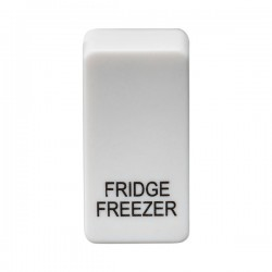 Knightsbridge Grid White Metal Clad Module Rocker Switch Cover Marked 'FRIDGE/FREEZER'