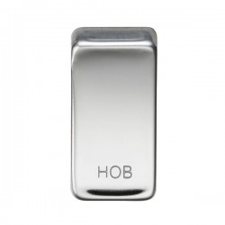 Knightsbridge Grid Polished Chrome Module Rocker Switch Cover Marked 'HOB'
