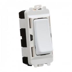 Knightsbridge Grid Matt White 20AX 2 Way Switch Module