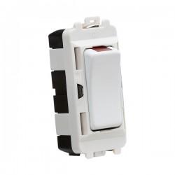 Knightsbridge Grid Matt White 20AX DP Switch Module with Neon