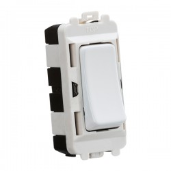 Knightsbridge Grid Matt White 20AX 2 Way Centre Off Switch Module