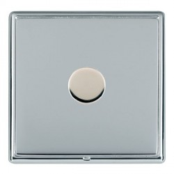 Hamilton Linea-Rondo CFX Bright Chrome/Bright Chrome Push On/Off Dimmer 1 Gang 2 way Inductive with Brigh...