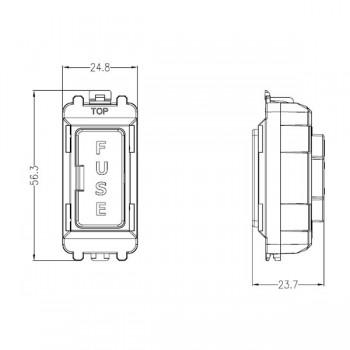 Knightsbridge Grid Matt White 13A Fused Module