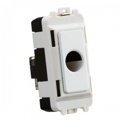 Knightsbridge Grid Matt White Flex Outlet Module