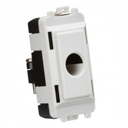 Knightsbridge Grid White Metal Clad Flex Outlet Module
