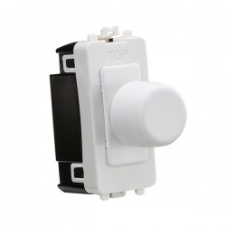 Knightsbridge Grid Matt White 2 Way Dimmer Module