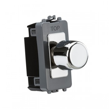 Knightsbridge Grid Polished Chrome 2 Way Dimmer Module