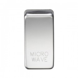 Knightsbridge Grid Polished Chrome Module Rocker Switch Cover Marked 'MICROWAVE'