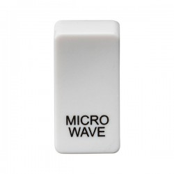 Knightsbridge Grid White Metal Clad Module Rocker Switch Cover Marked 'MICROWAVE'