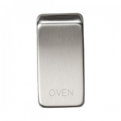 Knightsbridge Grid Brushed Chrome Module Rocker Switch Cover Marked 'OVEN'