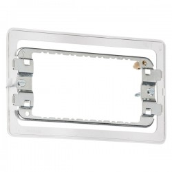 Knightsbridge 3-4 Gang Screwless Grid Mounting Frame