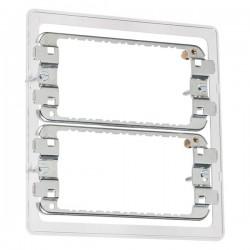 Knightsbridge 6-8 Gang Screwless Grid Mounting Frame