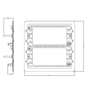 Knightsbridge 6-8 Gang Screwless Grid Mounting Frame