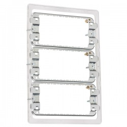 Knightsbridge 9-12 Gang Screwless Grid Mounting Frame