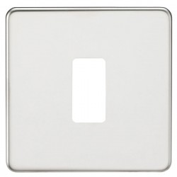 Knightsbridge Screwless Polished Chrome 1 Gang Grid Faceplate