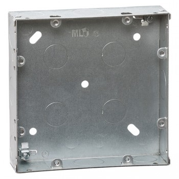 Knightsbridge Galvanised Steel 6-8 Gang 35mm Back Box