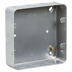 Knightsbridge Metal Clad 6-8 Gang Surface Mount Back Box