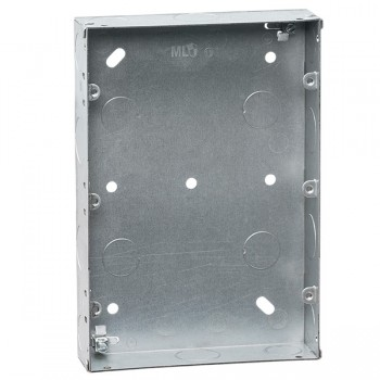 Knightsbridge Galvanised Steel 9-12 Gang 35mm Back Box