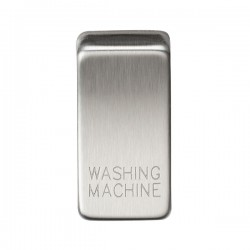 Knightsbridge Grid Brushed Chrome Module Rocker Switch Cover Marked 'WASHING MACHINE'