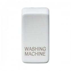 Knightsbridge Grid Matt White Module Rocker Switch Cover Marked 'WASHING MACHINE'