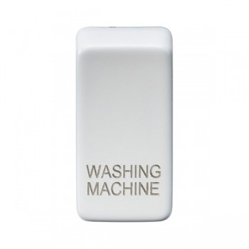 Knightsbridge Grid Matt White Module Rocker Switch Cover Marked 'WASHING MACHINE'