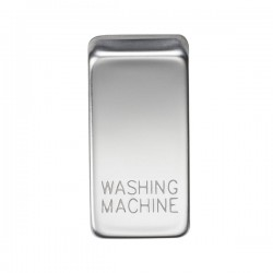 Knightsbridge Grid Polished Chrome Module Rocker Switch Cover Marked 'WASHING MACHINE'