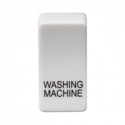 Knightsbridge Grid White Metal Clad Module Rocker Switch Cover Marked 'WASHING MACHINE'