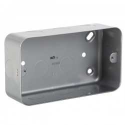 Knightsbridge Metal Clad 3-4 Gang Surface Mount Back Box