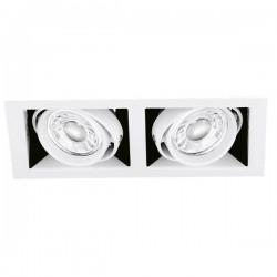 Aurora Lighting EDLM Pro 50W Adjustable Twin GU10 Downlight Multiple with Matt White Bezel