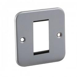 Knightsbridge Metal Clad 1 Gang Modular Plate
