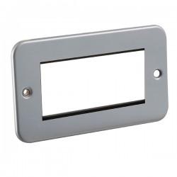 Knightsbridge Metal Clad 4 Gang Modular Plate