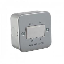 Knightsbridge Metal Clad 10A 3 Pole Fan Isolator Switch