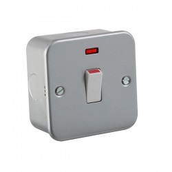 Knightsbridge Metal Clad 20A DP Switch with Neon