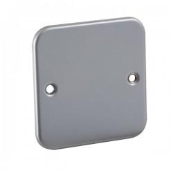 Knightsbridge Metal Clad 1 Gang Blank Plate