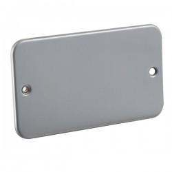 Knightsbridge Metal Clad 2 Gang Blank Plate