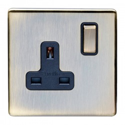 Eurolite Antique 1 Gang 13A Double Pole Switched Socket