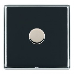 Hamilton Linea-Rondo CFX Bright Chrome/Piano Black Push On/Off Dimmer 1 Gang 2 way Inductive with Bright ...
