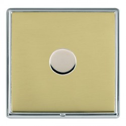 Hamilton Linea-Rondo CFX Bright Chrome/Polished Brass Push On/Off Dimmer 1 Gang 2 way Inductive with Brig...