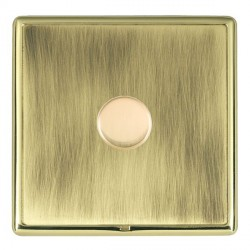 Hamilton Linea-Rondo CFX Polished Brass/Antique Brass Push On/Off Dimmer 1 Gang 2 way Inductive with Poli...