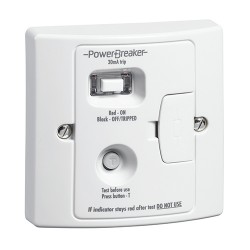 PowerBreaker White 13A RCD Fused Spur - Passive 10mA