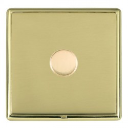 Hamilton Linea-Rondo CFX Polished Brass/Polished Brass Push On/Off Dimmer 1 Gang 2 way Inductive with Pol...