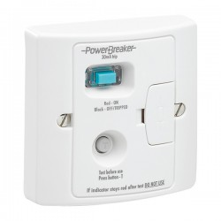 PowerBreaker White 13A RCD Fused Spur - Active 30mA