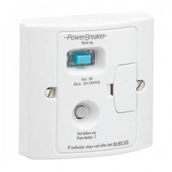 PowerBreaker White 13A RCD Fused Spur - Active 10mA