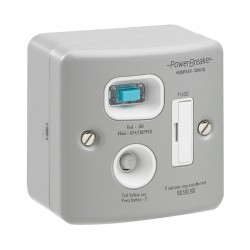 PowerBreaker Metalclad 13A RCD Fused Spur - Active 30mA